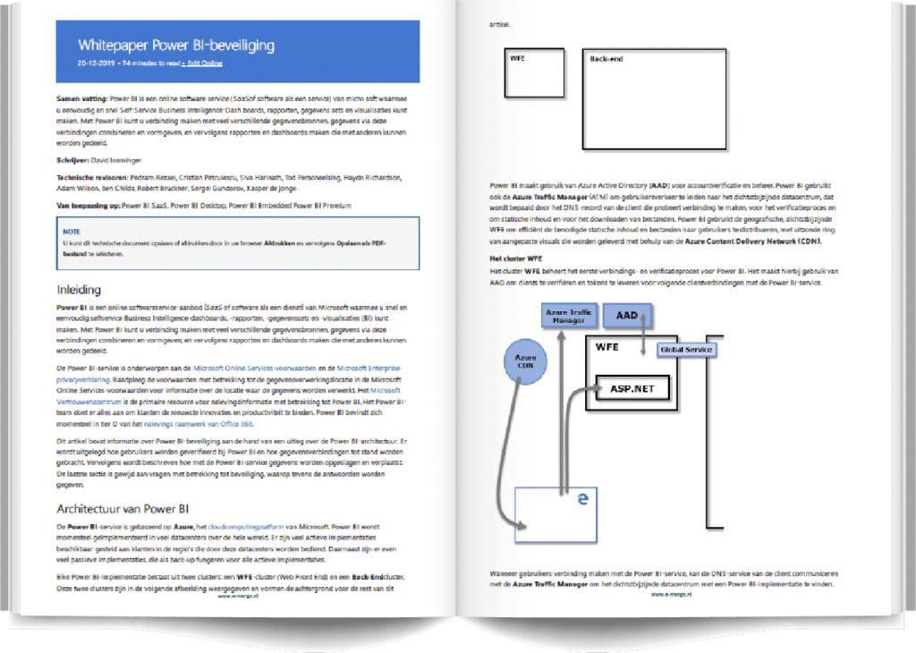 power bi, ebook, power bi beveiliging, microsoft, microsoft power bi, architectuur, whitepaper, whitepaper power bi