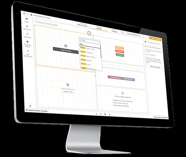 qlik sense extensions, qlik sense, qlik extensie, e-mergo tools bundle, e-mergo.nl