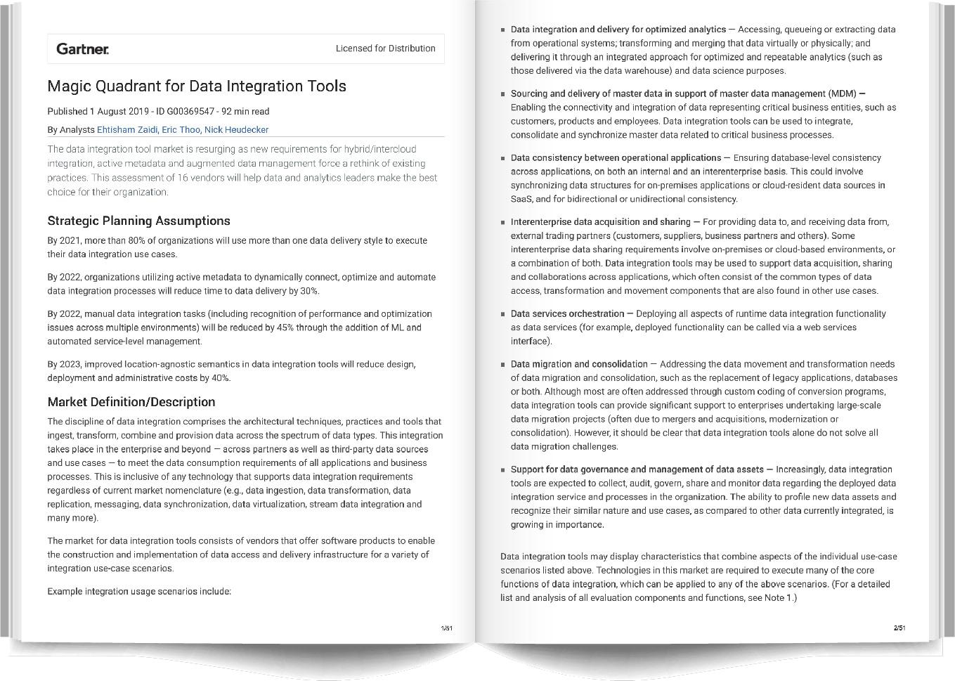 qlik, qlik sense, gartner, gartner magic quadrant, data integration tools
