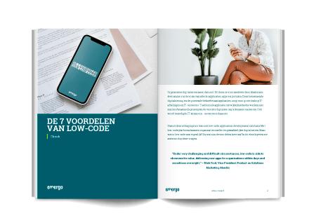 low-code, ebook, de 7 voordelen, low-code applicatie, low-code platform